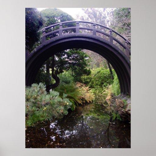 Impresión japonesa del jardín de té posters