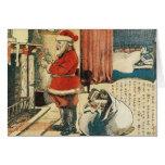 Impresión japonesa del navidad del vintage de Sant Tarjetas
