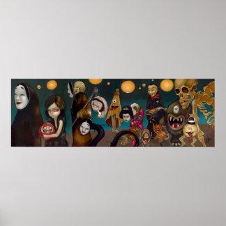 Impresión japonesa gótica del arte del yokai de Hy Poster