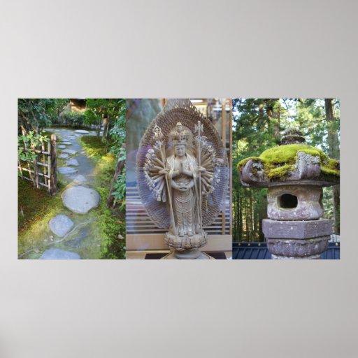 "Impresión ""jardín del zen"" por Adela Stefanov Póster"