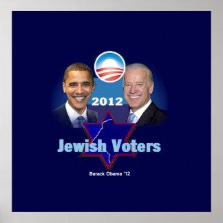 Impresión judía del POSTER de Obama