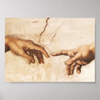 Impresión - la creación de Adán