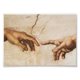 Impresión - la creación de Adán Póster
