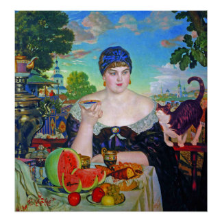 Impresión:  La esposa del comerciante de Boris Kus Poster