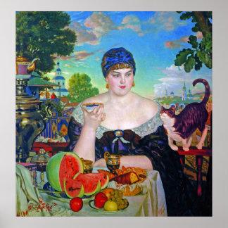 Impresión:  La esposa del comerciante de Boris Póster