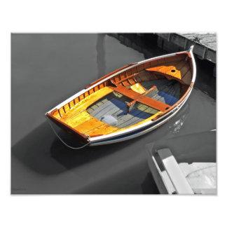 Impresión Lapstrake de las reflexiones del barco Fotografias