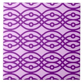 Impresión, lavanda y púrpura del kimono teja  ceramica