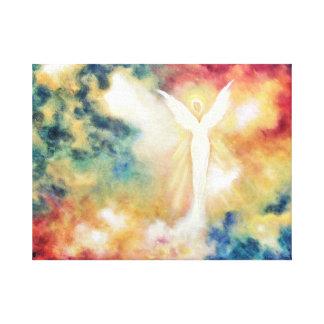 Impresión ligera del arte del ángel del ángel en l lona envuelta para galerías