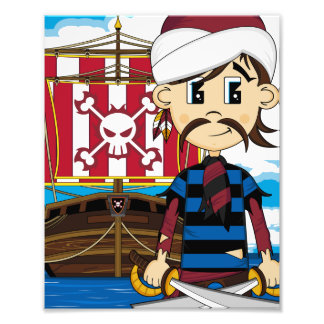 Impresión linda de la foto del pirata y de la nave