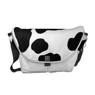 Impresión linda de la vaca bolsas de mensajería