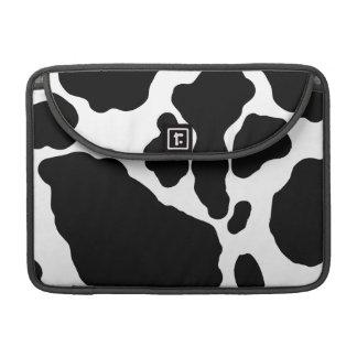 Impresión linda de la vaca fundas para macbooks