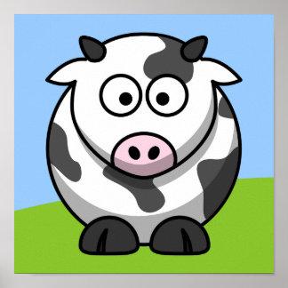 Impresión linda de la vaca posters