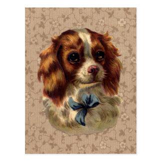 Impresión linda del perro del vintage tarjetas postales