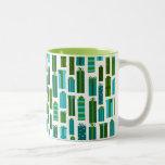 Impresión linda del regalo de Navidad - azulverde Taza De Café