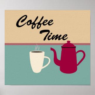 Impresión linda del tiempo del café