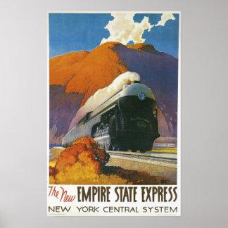 Impresión locomotora expresa del estado del imperi posters