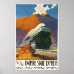 Impresión locomotora expresa del estado del imperi póster
