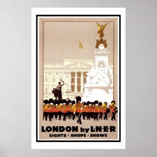 Impresión Londres del poster del vintage por L.N.E