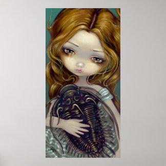Impresión lowbrow del arte de la fantasía de Trilo Póster