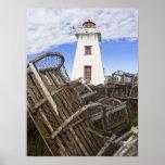Impresión - luz del norte de Rustico, PEI, Canadá Poster