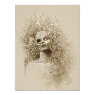 Impresión macabra de la foto del arte de la fantas fotografía
