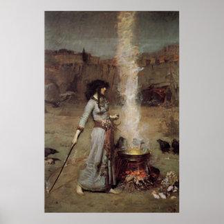 Impresión mágica de la lona del círculo posters