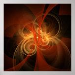 Impresión mágica del arte abstracto de la mañana impresiones