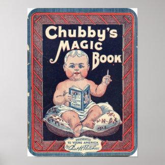 'Impresión mágica rechoncha del libro de s Posters