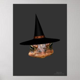 Impresión mala del poster del gorra de la bruja de