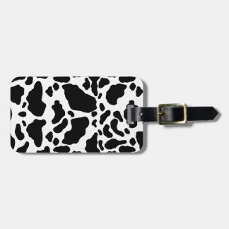 Impresión manchada de la vaca, modelo de la vaca,  etiquetas maleta