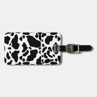 Impresión manchada de la vaca, modelo de la vaca, etiquetas para maletas
