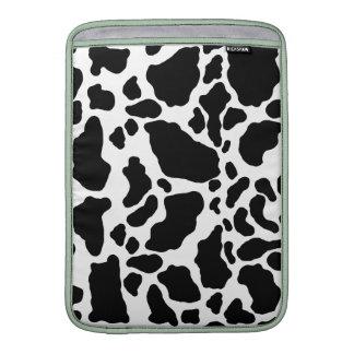 Impresión manchada de la vaca, modelo de la vaca, fundas para macbook air