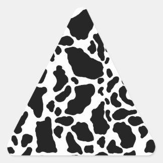 Impresión manchada de la vaca, modelo de la vaca, calcomanías de trianguloes personalizadas
