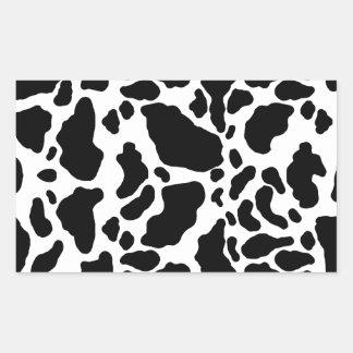 Impresión manchada de la vaca, modelo de la vaca, pegatina rectangular