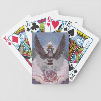 Impresión masónica del vintage barajas de cartas