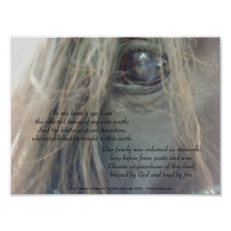 Impresión mate del ojo 11x8.25 de mi caballo ultra impresiones