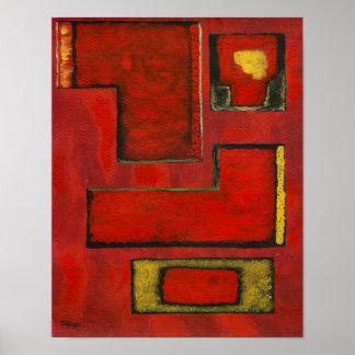 Impresión media separada del arte de la pintura or impresiones