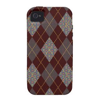 Impresión medieval de moda retra de Argyle Vibe iPhone 4 Carcasa