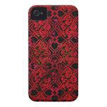 Impresión medieval roja del Grunge fresco Case-Mate iPhone 4 Funda