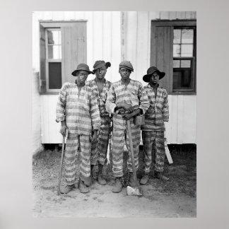 Impresión meridional de la cuadrilla de presos 190 póster