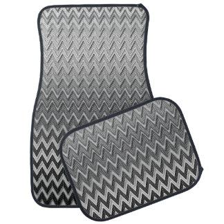 Impresión metálica de Chevron del cepillo Alfombrilla De Auto