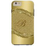 Impresión metálica del oro con el modelo de los funda para iPhone 6 plus tough
