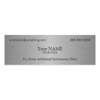 Impresión metálica ejecutiva de la textura plantilla de tarjeta de negocio