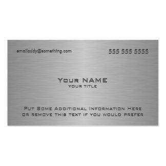 Impresión metálica moderna de la textura tarjetas de visita