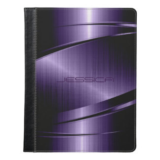 Impresión metálica púrpura del acero inoxidable