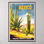 Impresión México del poster del vintage grande
