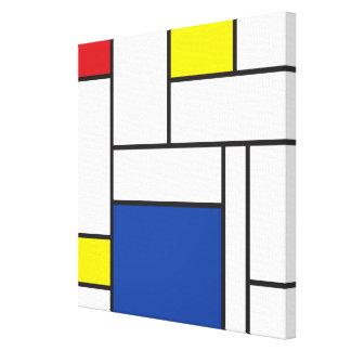 Impresión minimalista de la lona de arte de Mondri Lona Envuelta Para Galerias