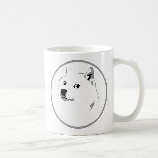 Impresión minimalista del dogecoin tazas