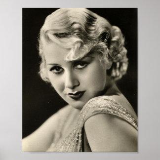 Impresión modela del actor de cine de los años 30  póster