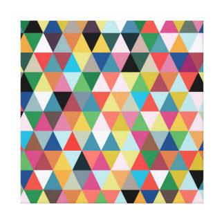 Impresión modelada geométrica colorida de la lona lienzo envuelto para galerias